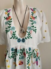 ZARA, FLORAL EMBROIDERY SUMMER TEA DRESS STUNING LADIES SIZE 12