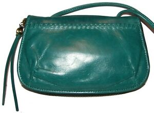 HOBO Daria Bluegrass Leather Purse Clutch Wallet NWT