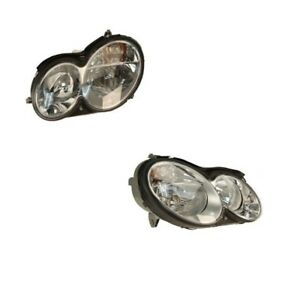 Kit of Left And Right Headlights Assembly Hella For: Mercedes W209 CLK350 CLK320