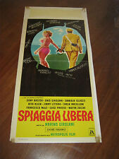 LOCANDINA,1966,Spiaggia libera,Girolami,LUPO,MONDAINI,TIERI,BOSCHERO,CARABINIERE