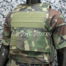 Black Hawk Down Body Armor Plate Tactical Carrier Vest Woodland Camo