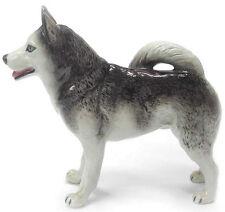 New NORTHERN ROSE Porcelain Figurine SIBERIAN HUSKY Dog Statue ALASKAN Puppy