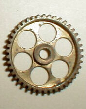 """46 Tooth Super Light Brass Spur Gear 48 Pitch with 1/8"""" hole NOS Slot Car 1/24"""