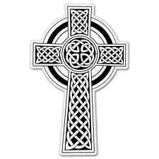 "Celtic Cross Irish Ireland car bumper sticker decal 5"" x 3"""