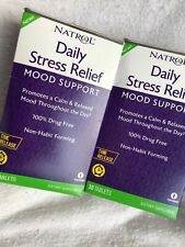Exp 2019 New Lot Of 2 Natrol DAILY STRESS RELIEF Mood  30 Tablets 100mg 5-HPT