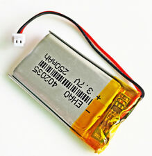 250mAh 3.7V Rechargeable lipo Battery 402035 JST 1.25mm For SMART WATCH headset