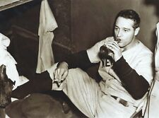 "Lou Gehrig- 8"" x 10"" Photo- 1930's- New York- Yankee Stadium - Beer & Cigarette"