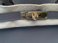 Hermes Original New Birkin Bag KELLY Gray 35 Togo Leather Gold Accessory