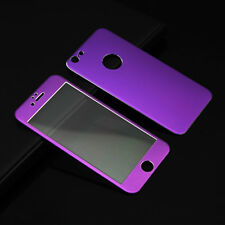 3D Circled Metal Alloy Tempered Glass Full Screen Protector For iPhone 6 6 Plus