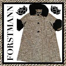 Vintage 50's  *FORSTMANN* Textured Coat Genuine Mouton Lamb CollarCuffs~Med EXC!