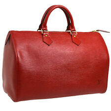 Authentic LOUIS VUITTON Speedy 35 Hand Bag Red Epi Leather M42997 M13860