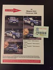 DECALS 1/43 RENAULT MEGANE MAXI BUGALSKI RALLYE DES CEVENNES 1996 WRC RALLY
