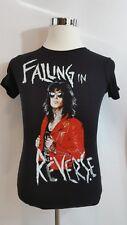 Falling In Revenge Juniors Cut Size Medium Rare Rock Tee Shirt Black Womens