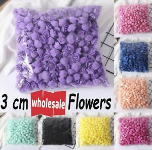 1000 Foam Mini Roses WHOLESALE Heads Buds Small Flowers Wedding Home Partys UK
