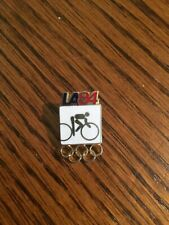 1984 Olympic Pin Cycling White Los Angeles