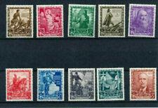 1938 ITALIA REGNO IMPERO ORDINARIA SERIE 10 FRANCOBOLLI MLH * CENTRATISSIMI