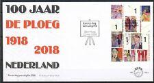 NEDERLAND ONBESCHREVEN FDC E-768 - 100 JAAR DE PLOEG