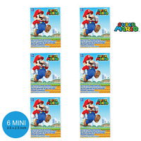 Super Mario Party Supplies Favours 6 MINI COLOURING BOOKS 20 Pages Each