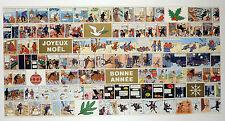 Hergé Carte de voeux Tintin SIGNEE 1974 TTBE