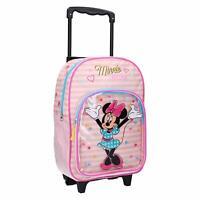 Minnie Mouse Rucksack Trolley Koffer Kinderkoffer mit Vorderfach 38 cm Neu