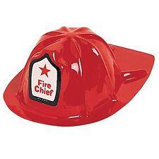 Soft Plastic Children's Fancy Dress Party Hat Fire Chief
