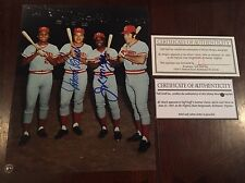 JOHNNY BENCH & JOE MORGAN Signed AUTO Autographed 8 x 10 Photo BIG RED MACHINE