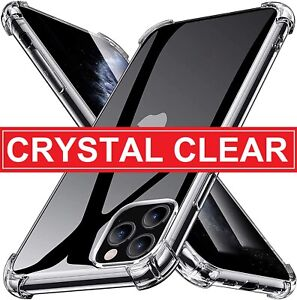 Clear Case For iPhone 13 12 11 X XR SE 2020 7 8 6 Silicone Soft Shockproof Cover