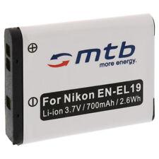 Caricatore per Nikon Coolpix S2600 S2700 S2750 S2800 S6700 Batterie EN-EL19