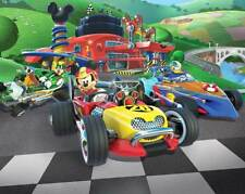 Walltastic Fototapete Disney Mickey Mouse Roadster Racer NEUHEIT 2,44 x 3,05 m