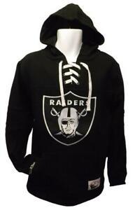New Las Vegas Raiders Mens Size 2XL Mitchell & Ness Hockey Style Hoodie $85