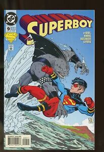 SUPERBOY #9 NEAR MINT 9.4 1st KING SHARK 1994 DC COMICS