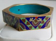 Chinese Cloisonné Blue Enamel Art Deco Bangle