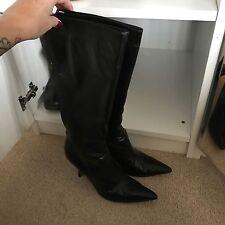 Jimmy Choo Black Knee High Boots Vintage
