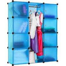 Etagère enfichable  Armoire  Penderie à vêtements rangement système clip bleu