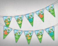 Cute Dino - Bunting Banner 15 flags Jurassic Dinosaurs in Colours by Party Decor
