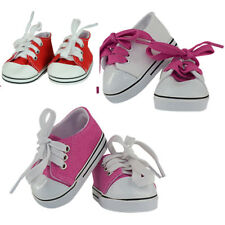 """MANGOPEACHES-18"""" Doll SHOES- 3 pc SHOE DELUXE SET: Red /Pink /white Tennis shoes"""