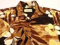 Cubavera Mens Small Short Sleeve Button-Front Multicolor Floral Hawaiian Shirt