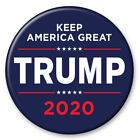 Donald Trump 2020 Keep America Great Navy Blue 3 Inch President Button Pin