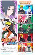 NARUTO Stamp Sheet Japan 2009 Animation Hero Series Anime NEW