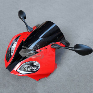 Fit For BMW S1000RR 15-18 Front Headlight Mirror Bracket Fairing Cowl Nose Set