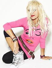 Betsey Johnson Pink Wink Face Tee Shirt top M