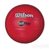 Wilson Soft Play Outdoor/Indoor Volleyball Official Size Synthetic Leather Red