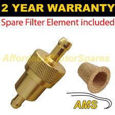 """Oro de 3/8 """" & Repuesto elemento universal de metal en línea de Filtro De Combustible Aluminio Anodizado"""