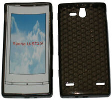 Pattern Soft Gel Case Protector Cover For Sony Ericsson Xperia U ST25i Black UK