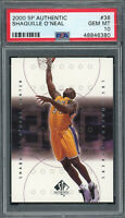 Shaquille O'Neal 2000 SP Authentic Upper Deck Basketball Card #38 PSA 10 GEM MT