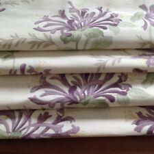 Laura Ashley Table Runner & Mats in  Honeysuckle Grape Fabric Fully Lined. New!