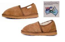 Mens Slipper Chestnut Brown Sheepskin Wool Indoor Casual Shoe Duke Male Slipper