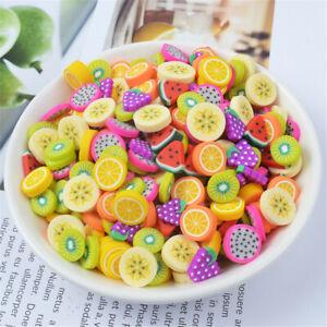 40 pcs Mini Flat Polymer Clay Fruits Slices Cabochons DIY Nail Art Decorations
