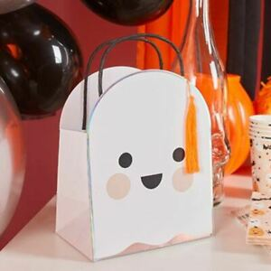 Halloween Ghost Party Bags   Trick or Treat Party Kids Decoration x5