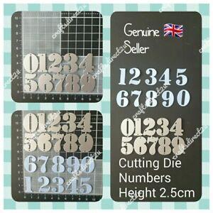 Metal Cutting Die - NUMBERS  0-9 - 2.5cm - 1 inch - Scrapbooking - Crafting